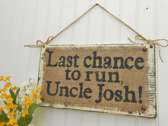 Ring Bearer or Flower Girl sign for wedding ceremony, vintage look, cottage Last Chance signage