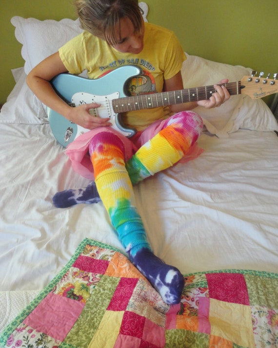 Thigh High Socks Rainbow