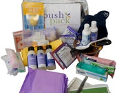The Push Pack - a prepacked hospital bag with all of the essentials moms want and need.