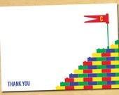 Stacking Blocks Birthday Party Thank You Printable