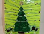 Mosaic Christmas Tree Table Decor