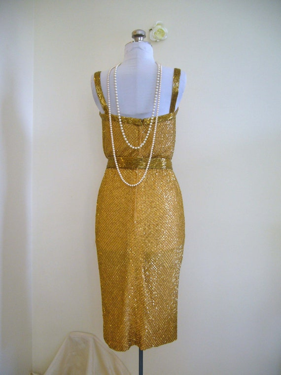 luxurious vintage 50s dress for the holiday or new years
