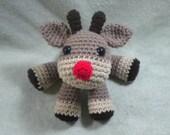 Holiday Reindeer Crochet Amigurumi - Woodland Animal Soft Plush Toy