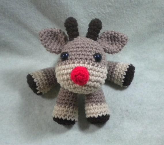 Christmas Reindeer Amigurumi : Holiday Reindeer Crochet Amigurumi Woodland by ...