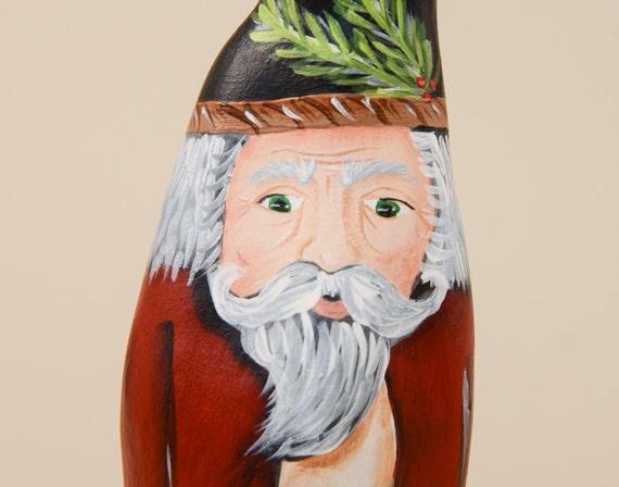 Wood Santa Claus Cypress Knee Cowboy Western