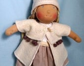 RESERVED FOR CONNIE - Natural Waldorf Style Doll 14""