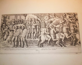 original copperplate engraving 1673 trajans column pietro santi bartoli 1635 1700 selling collection