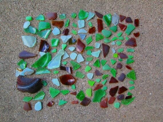 125 Pieces of Sea Glass Mosaic Supplies Lake Michigan