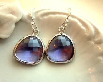 Tanzanite Earrings Purple Earrings Silver - Bridesmaid Earrings - Bridal Earrings - Wedding Earrings - Valentines Day Gift - Gift for her