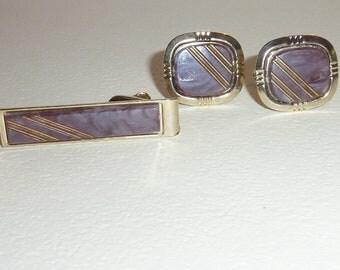 Vintage Cufflink & Tie Clipp Set