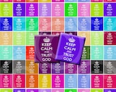 Keep Calm and Trust God .75 X .83 Inch Scrabble Tile Digital Collage Sheet no.400 for  Scrapbooking, and More...