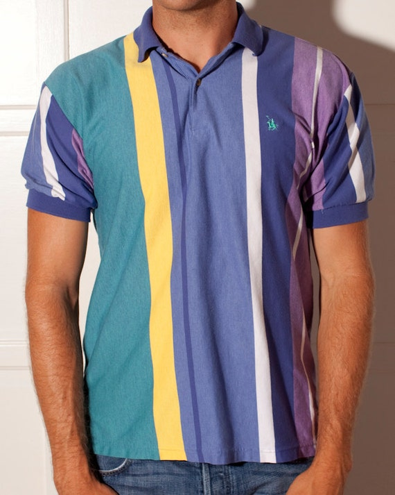 Colorful Men's Polo Shirt - Knights of Round Table - L