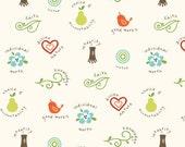Good Life by Deena Rutter for Riley Blake Designs, Good Values Cream, SKU C2882, 1 yd