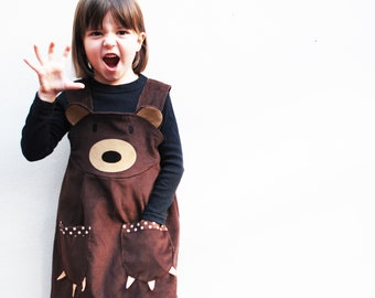 Brown Bear Girls Dress