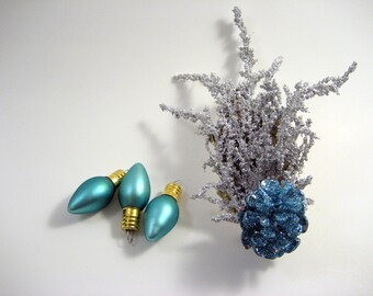 Jack/Jill Frost Pinecone Headband - Frozen Blue and Silver frosted headband - Whoville Winter - Christmas - Ice