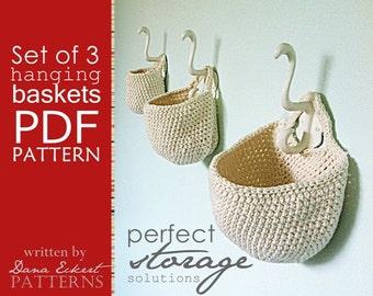 Set of 3 Hanging Basket  PDF Pattern