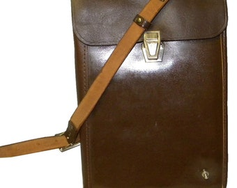 Vintage Russian Army Leather Case Bag Shoulder eBook iPad