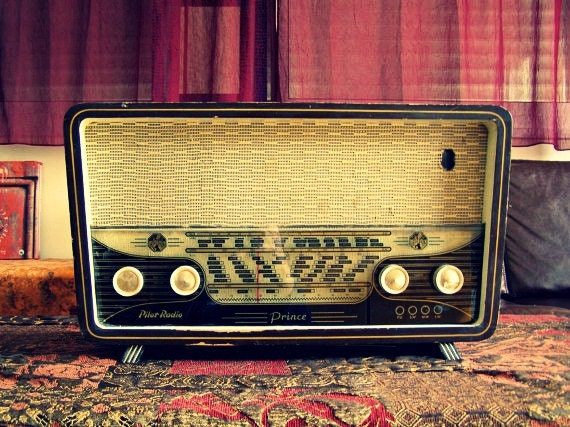 Antique Wood Radio, Pilot Prince Israeli Radio, Mid century, mad men, gift for musician, retro furniture,