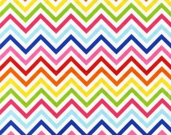 "Fat Quarter (18""x22"") Only of Bright Skinny Chevron From Robert Kaufman"