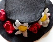 Mary Poppin's Costume Hat - Play Dress Up, Halloween Costume, Impersonations, Mary Poppins, Bert and Mary Costumes