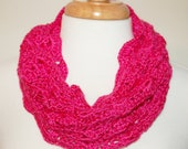 Bamboo and Silk Hot Pink Cowl