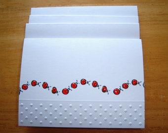 Lucky Ladybugs Set of Five Notecards