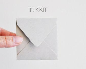 itty gray square envelopes (10 envelopes)