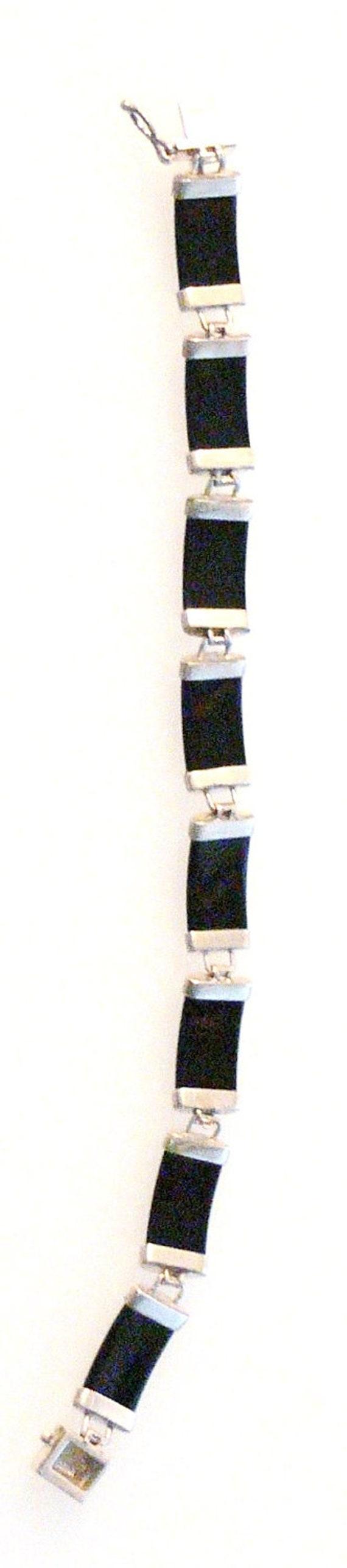 sterling and black onxy bracelet