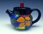 Teapot - Beautiful Hand-painted, Handmade Ceramic Teapot