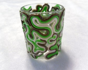 Swirly Brown Votive Candle Holder  O-024