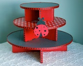 Lady Bug Cupcake Stand for Birthdays or Baby Shower