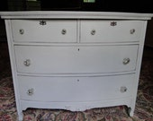 SOLD: Free NYC Delivery -Gorgeous Vintage Shabby 4 Drawer Paris Grey Dresser