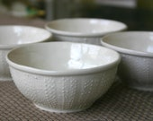 Porcelain Sea Urchin Bowl - 8oz Set of 4 Bowls