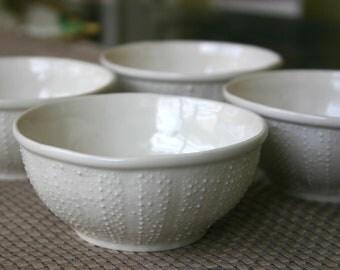 Porcelain Sea Urchin Bowl - 8oz Set of 4 Bowls