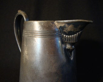 SALE Silver plate creamer KS Co. silverplate silverplated pitcher pourer deco ornate
