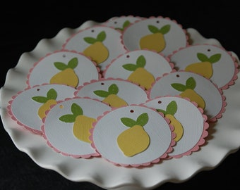 Pink Lemonade Favor Tags, Pink Lemonade Tags, Lemonade, Lemon, 12 Pcs