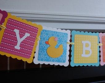 Rubber Duck Birthday Banner, Happy Birthday banner, Rubber Duck Birthday Party, Duck Theme