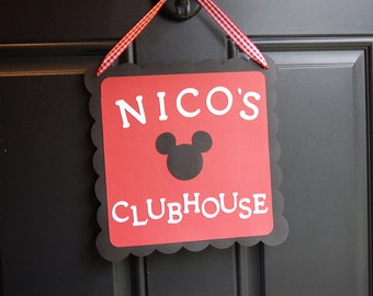 Mickey Mouse Door Sign, Mickey Mouse Birthday Party, Mickey Mouse Inspired