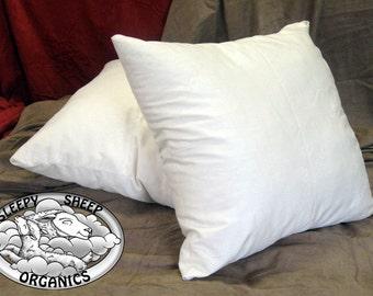 """Euro Wool Pillow, 26""""x26"""" Set of 3 pillows"""
