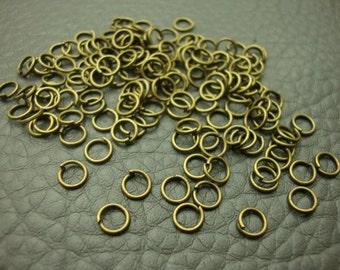 15g 0.7x5mm Antique Bronze Tone Jump Rings Handmade Findings  (H1031)