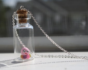 Of Mice & Men - Cute Rainbow Squidgy in a Bottle Necklace