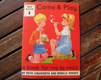 Come & Play vintage learn to read book