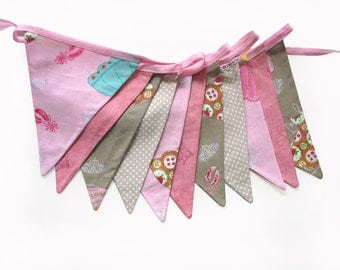 Princess Pink Flag Bunting for Girls.  HANDMADE . Bedroom Wall hanging, Birthday Party Banner, Market Stall Decoration . GIFT IDEA