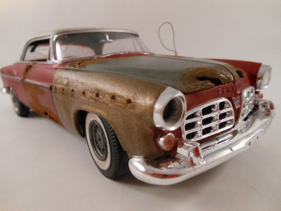 1955 Chrysler 300 1/24 scale model car in red