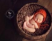 Newborn Blanket / Stretch Wrap - MAHOGANY Lush Wrap- Newborn Photography Prop - Baby Blanket - knitbysarah - stitches by sarah