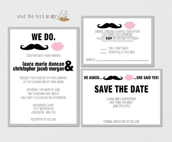 Items Similar To Printable Diy Wedding Invitation