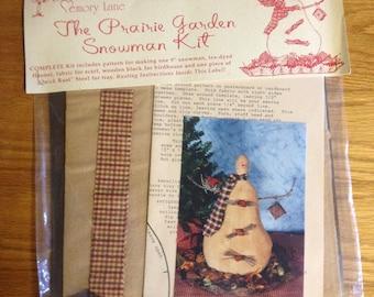 Down Memory Lane - The Prairie Garden Snowman Kit