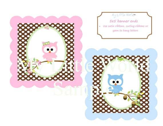 Owl Birthday Decoration, owl birthday theme, twin owl birthday package, owl birthday, owl birthday party, owl decorations, birthday