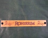 Lord of the Rings/Hobbit Rohirrim horse lords leather wristband-free shipping