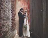 Rustic wedding silver bridal shrug, shawl for bride/evening dress, metallic fabric, 4-options shawl in light grey (DL300)